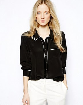 Image 1 of Ganni Pyjama Shirt in Silk