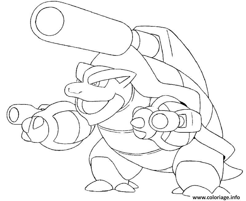 Coloriage Pokemon Mega Evolution Tortank 9 Jecoloriecom