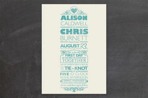 Vintage Poster Style Wedding Invitations
