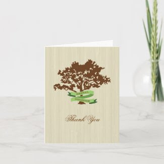 Oak Tree Fall Thank You Card