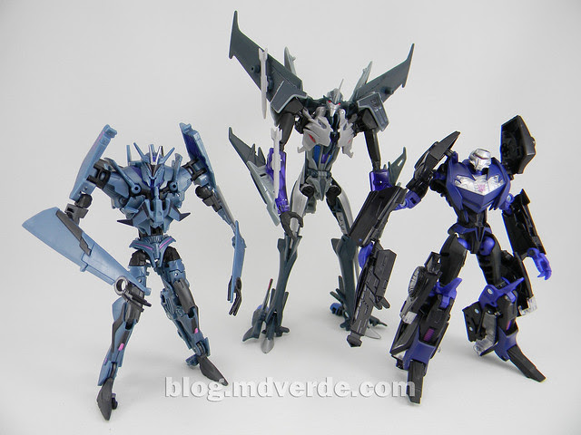 Transformers Vehicon Deluxe - Prime RID - modo robot vs Soundwave vs Starscream Voyager