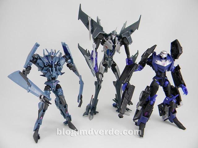 Transformers Vehicon Deluxe - Prime RID - modo robot vs Soundwave vs Starscream Voyager
