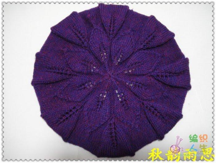 叶子花帽子(从帽顶织的) - julia668 - julia668的博客