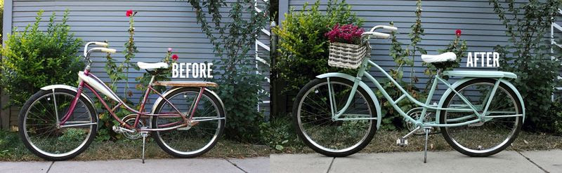 Bike Makeover Before + After