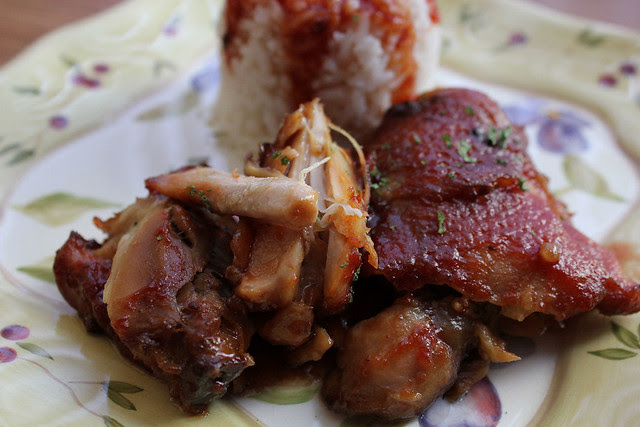 Slow Cooked Sticky Chicken