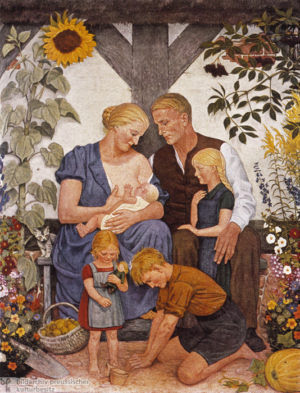 """Painting by Wolfgang Willrich entitled """"Family"""", 1934."""