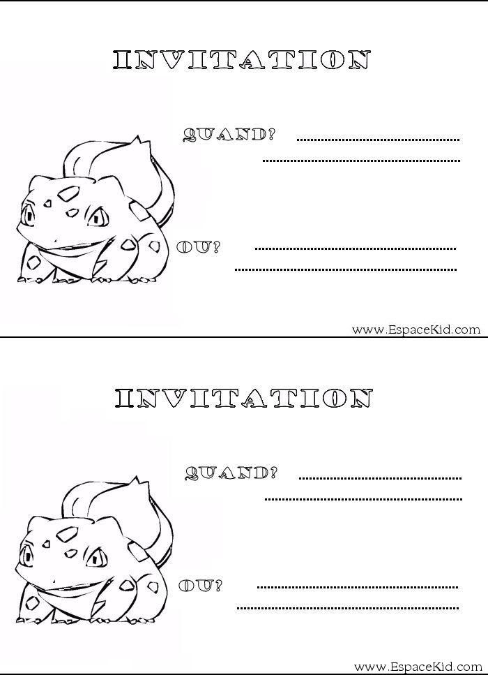 Carte D Invitation Pokemon Gratuite à Imprimer
