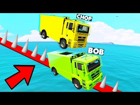 MOST EPIC TRUCK RACE of GTA 5 with Bob, Chop & ..... You WOW You LOSE!   99.9% IMPOSSIBLE PARKOUR