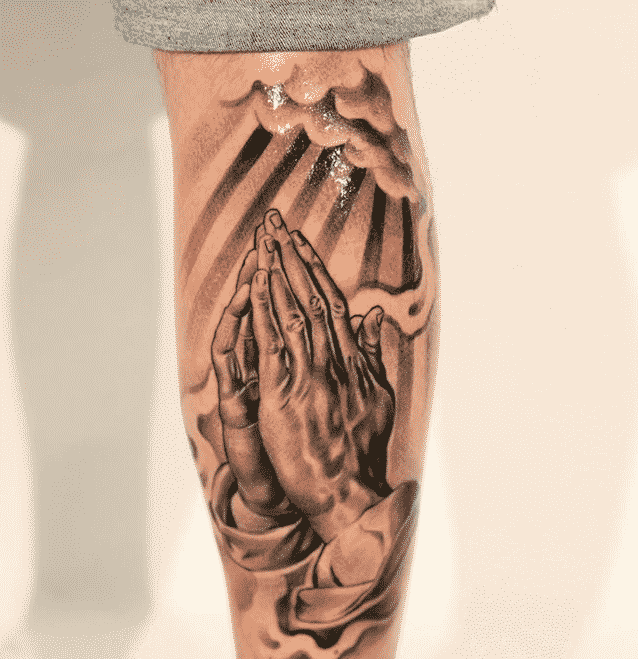 Praying Hands Tattoos for Men - Ideas and Designs for Guys
