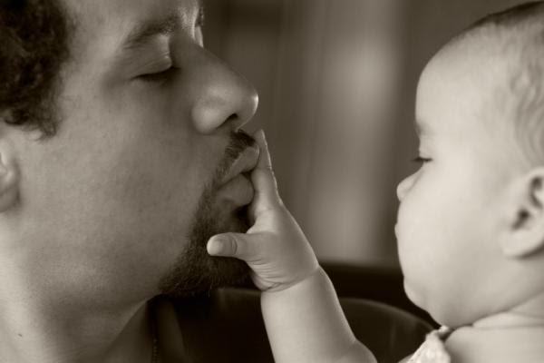 Kissing Daddy