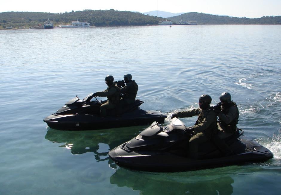 Jetski de las fuerzas especiales