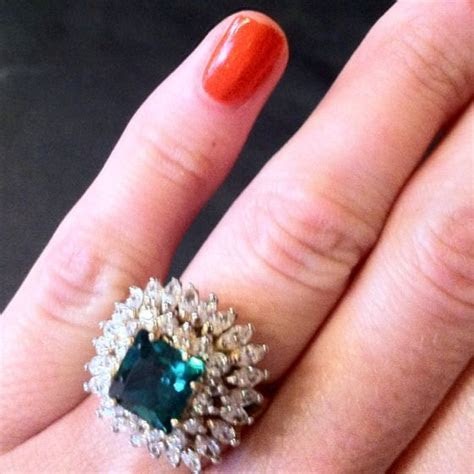 Replica of Jackie Kennedy engagement ring.   Vintage