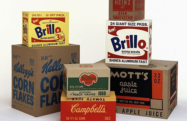 Brillo boxes and other works (1964) by Andy Warhol