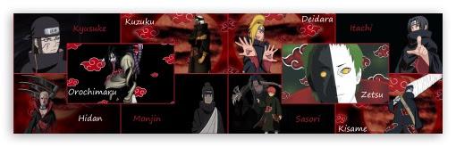 Naruto Akatsuki Ultra Hd Desktop Background Wallpaper For Multi Display Dual Monitor