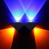 4W Scattering Abstract Geometric Design Modern LED Wall Light - US