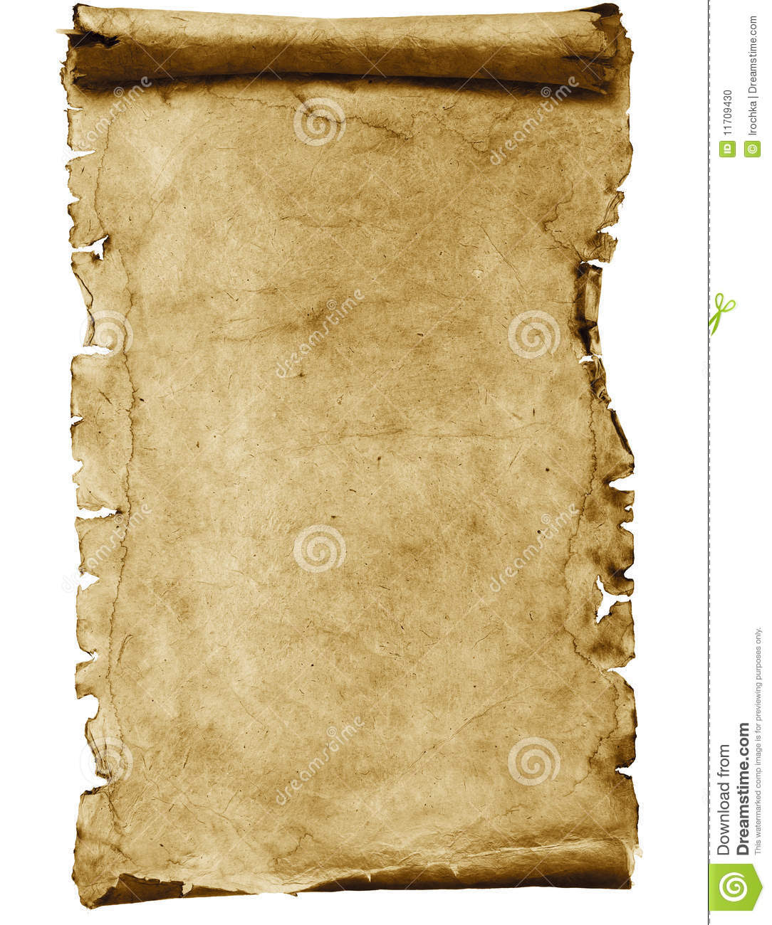 Blank Parchment Scroll Stock Photo - Image: 11709430