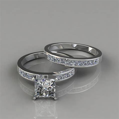 Princess Cut Moissanite Bridal Set Rings   Forever Moissanite