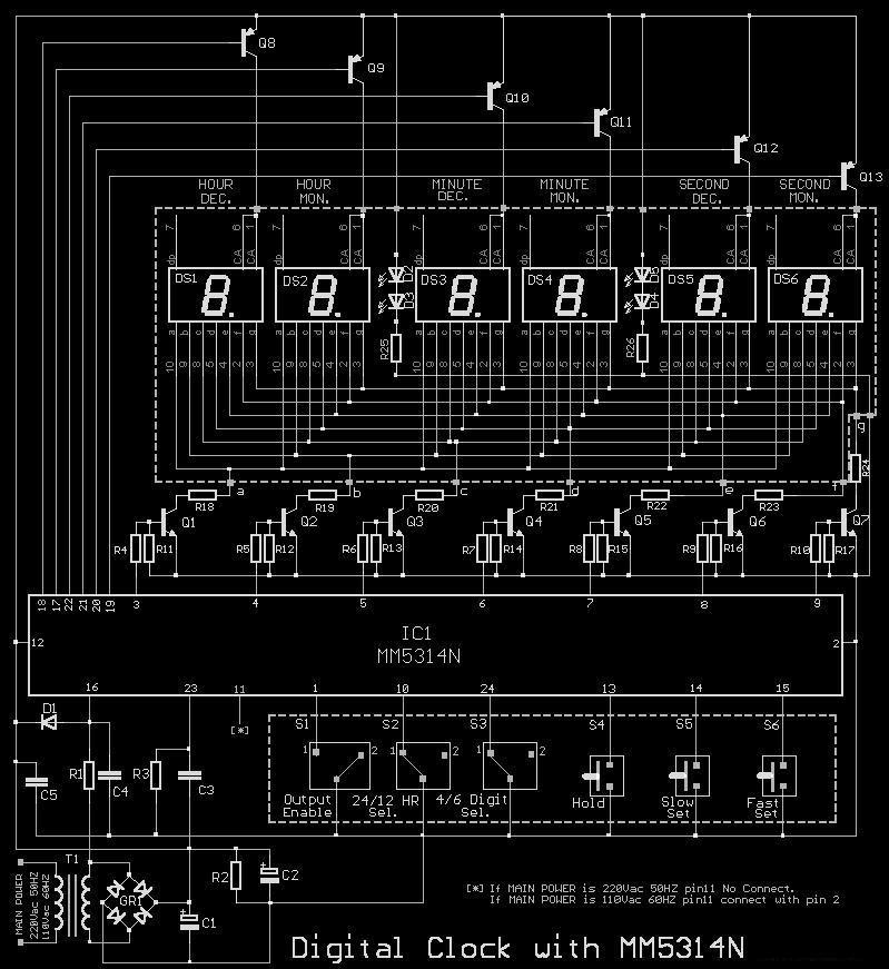Digital Clock Circuit Diagram With Pcb Layout - PCB Circuits