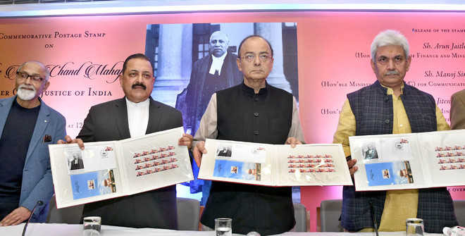 Postal stamp issued to honour 3rd CJI