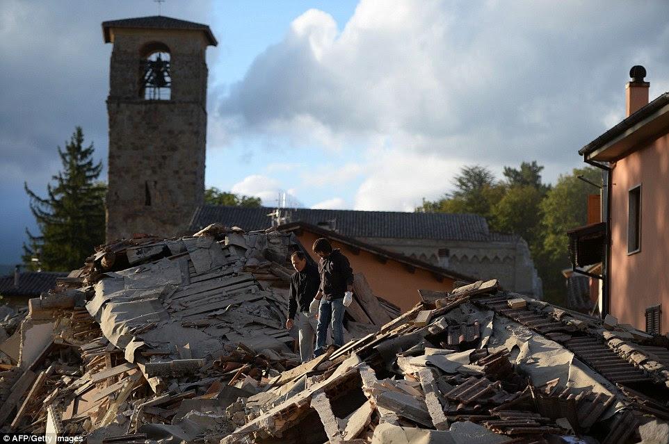 Ocupado: A área da Umbria é muito popular entre os turistas, e alguns britânicos foram apanhados no caos de hoje
