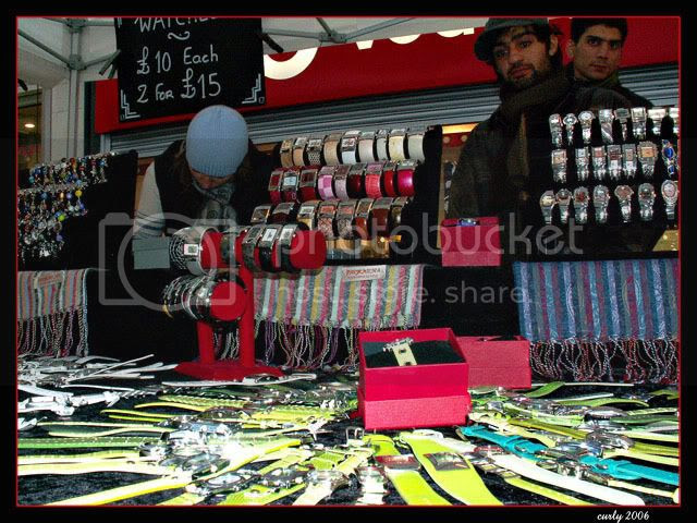 picture of watch stall, continental market, king street, south shields