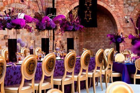 Wedding Inspiration: Stunning Purple   Gold Decor   Belle