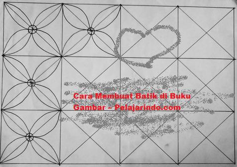 Koleksi Gambar Batik Motif Corak Batik Terlengkap Indonesia Cara Menggambar Batik Di Buku Gambar A3