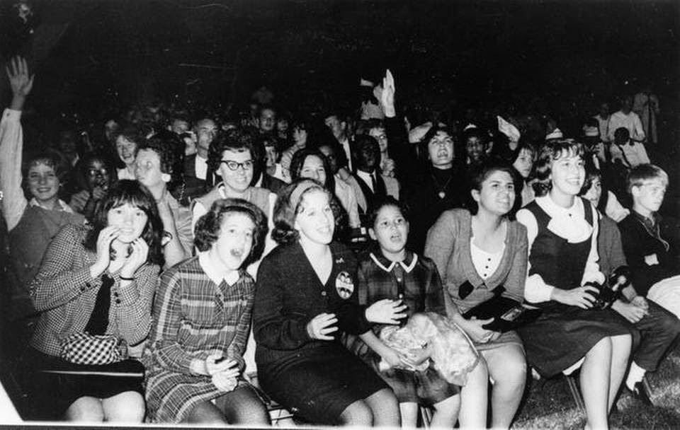 So just how loud was the crowd? Imagine the sound behind this photo of Beatlemania in full force at Municipal Stadium.