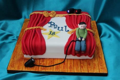Theatre Cake with LED lights for lighting technician