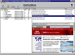 FastTrackNews, lecteur de flux RSS portable