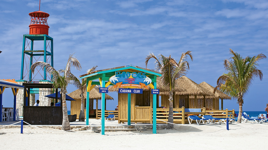 Cabanas on Royal Caribbean's CocoCay.