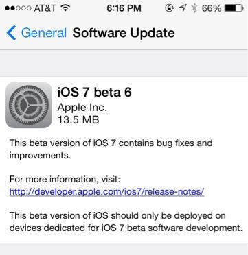 ios-7-beta 6-iphone 5s
