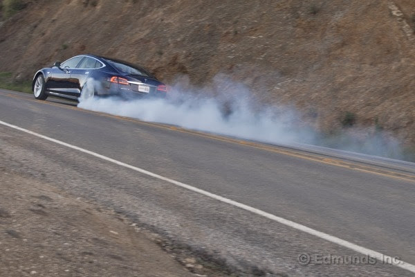 2013 Tesla Model S - Burnout
