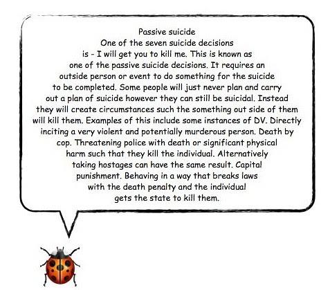 Passive suicide part 1