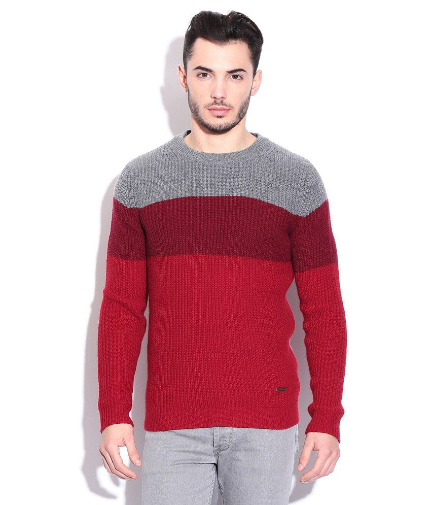 Sweater  Buy United Colors Of Benetton Red Acrylic Round Neck Sweater