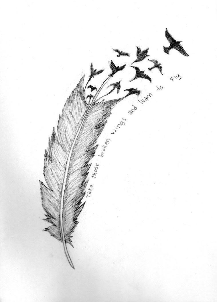 Creative Feather Bird Tattoo Photo Tattoomagz