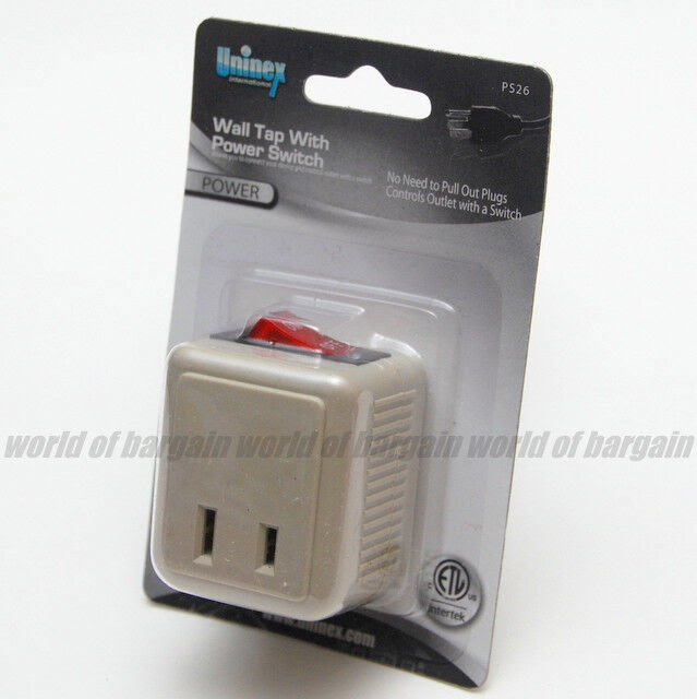 Switch Outlet Control Light Wall Socket 4 Pack Power Plug