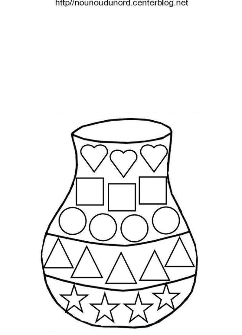vase gommette plusieurs formes a colorier