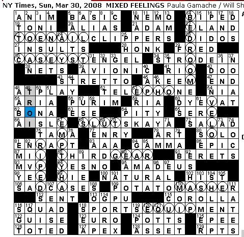 Rex parker does the nyt crossword puzzle sunday mar 30 for Soil 8 letters crossword clue