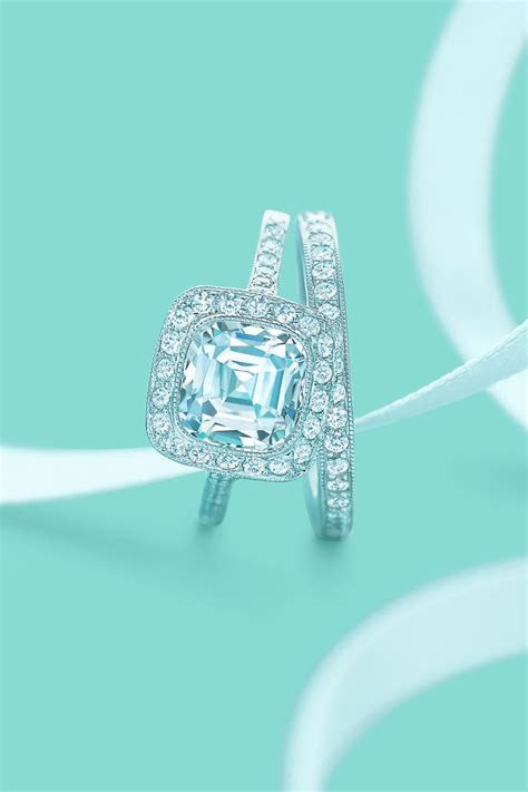 Tiffany Legacy® diamond engagement ring with a matching
