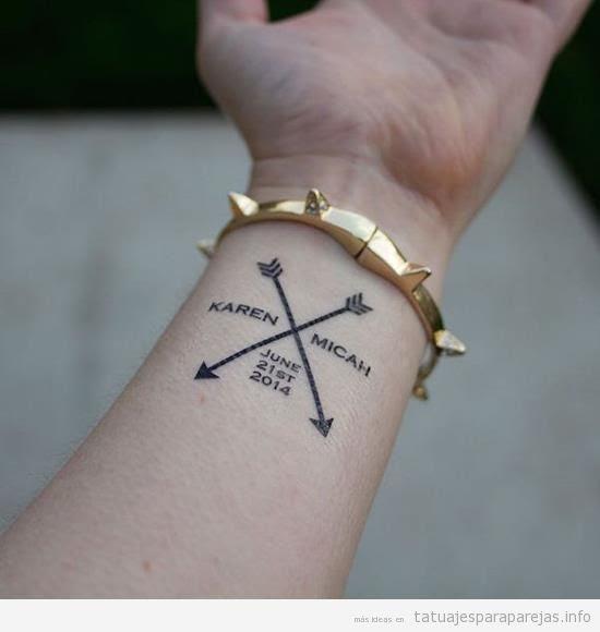 Tatuajes En Pareja Con El Nombre De Tu Pareja El De Los Dos O El De