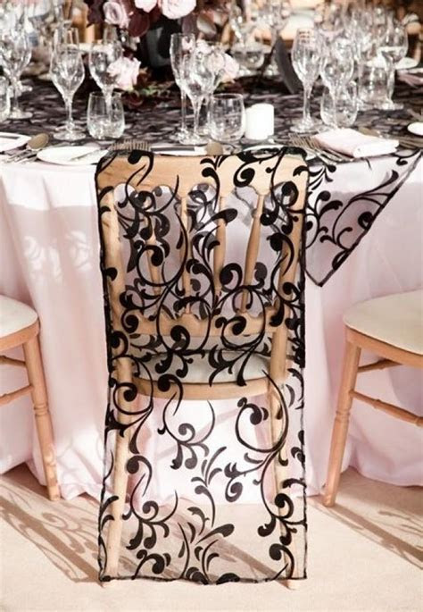 Black Wedding   Black Lace Chair Cover #2041763   Weddbook
