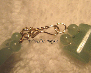 bracelet wire wrapped with gold filled wire