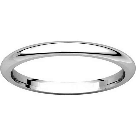 UH123782PP Platinum 2mm Heavy Comfort Fit Plain Wedding Band