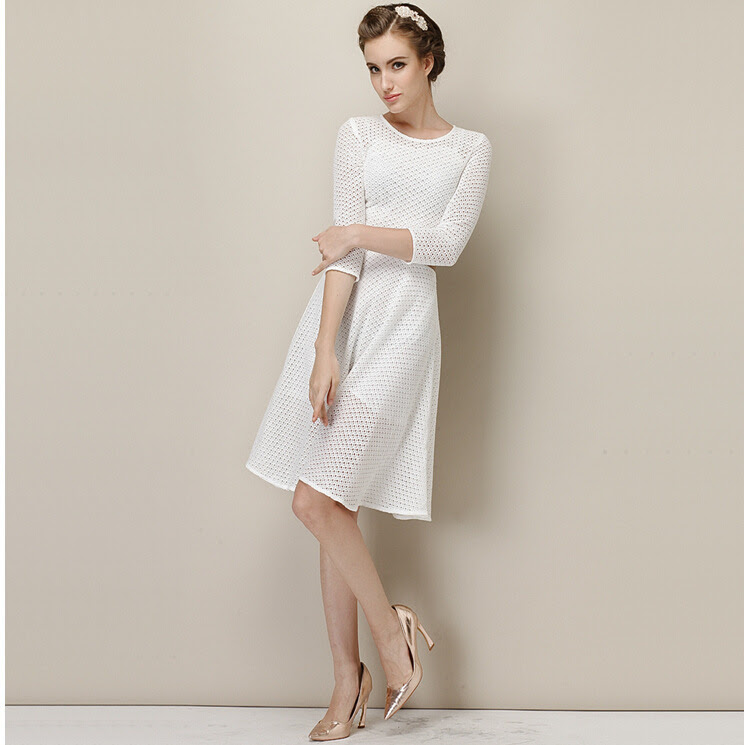 White cotton evening dress