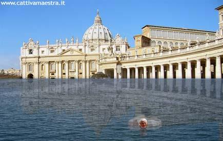 il papa che nuota