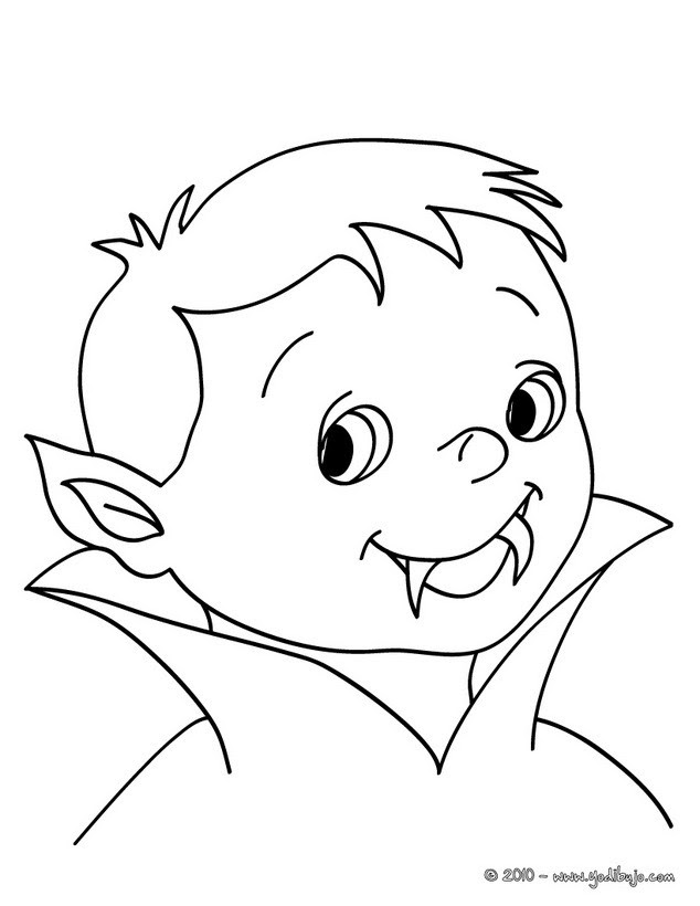 Dibujos Para Colorear Un Joven Vampiro Eshellokidscom