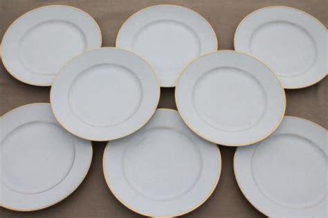 Heinrich H&Co mark porcelain dinner plates, deco vintage