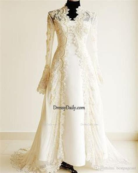 The Beautiful Arabic Lace Wedding Dresses With Long