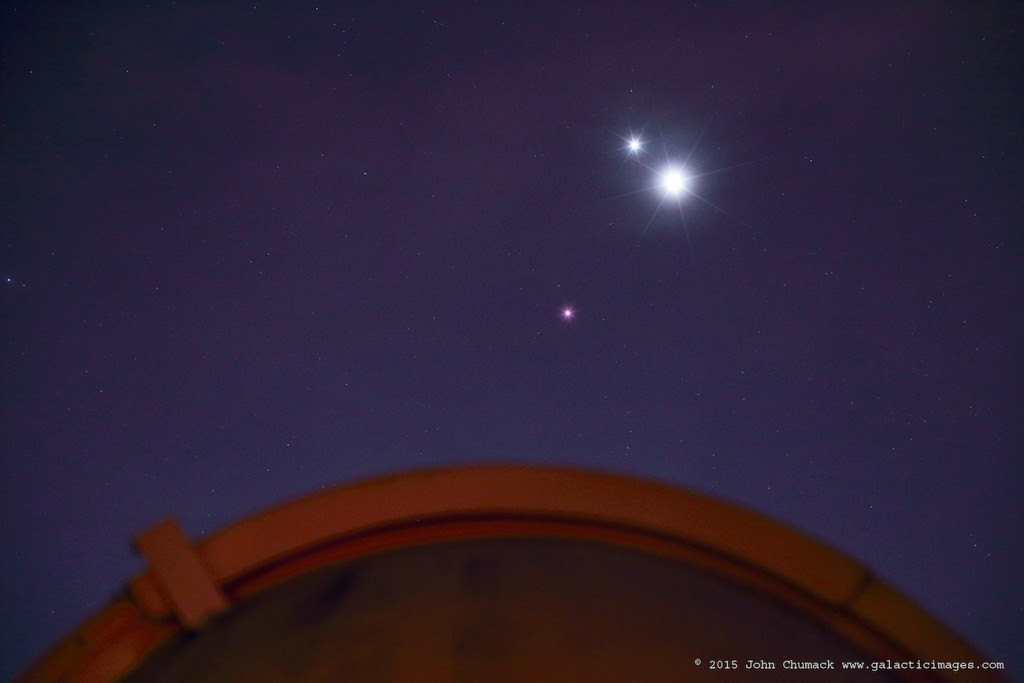 Venus, Jupiter & Mars in Leo on 10-26-2015 Canon 6D DSLR, 98mm lens, ISO 3200, 2 seconds